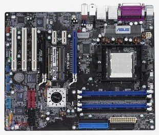 ASUS A8N SLI DELUXE MOTHERBOARD, AMD X2 AQUAGATE COOLER