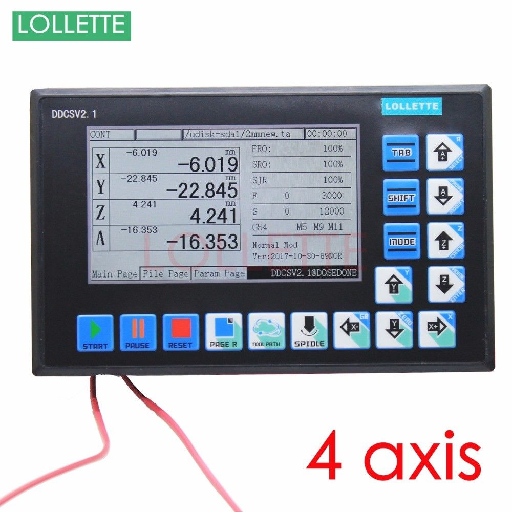 DDCSV2.1 CNC Control System USB 500KHz 4 Axis Motion Controller