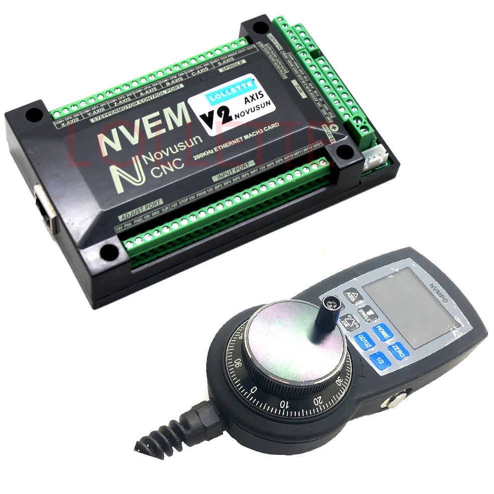 NVEM 6 Axis CNC Controller MACH3 Ethernet Interface Board Card+N